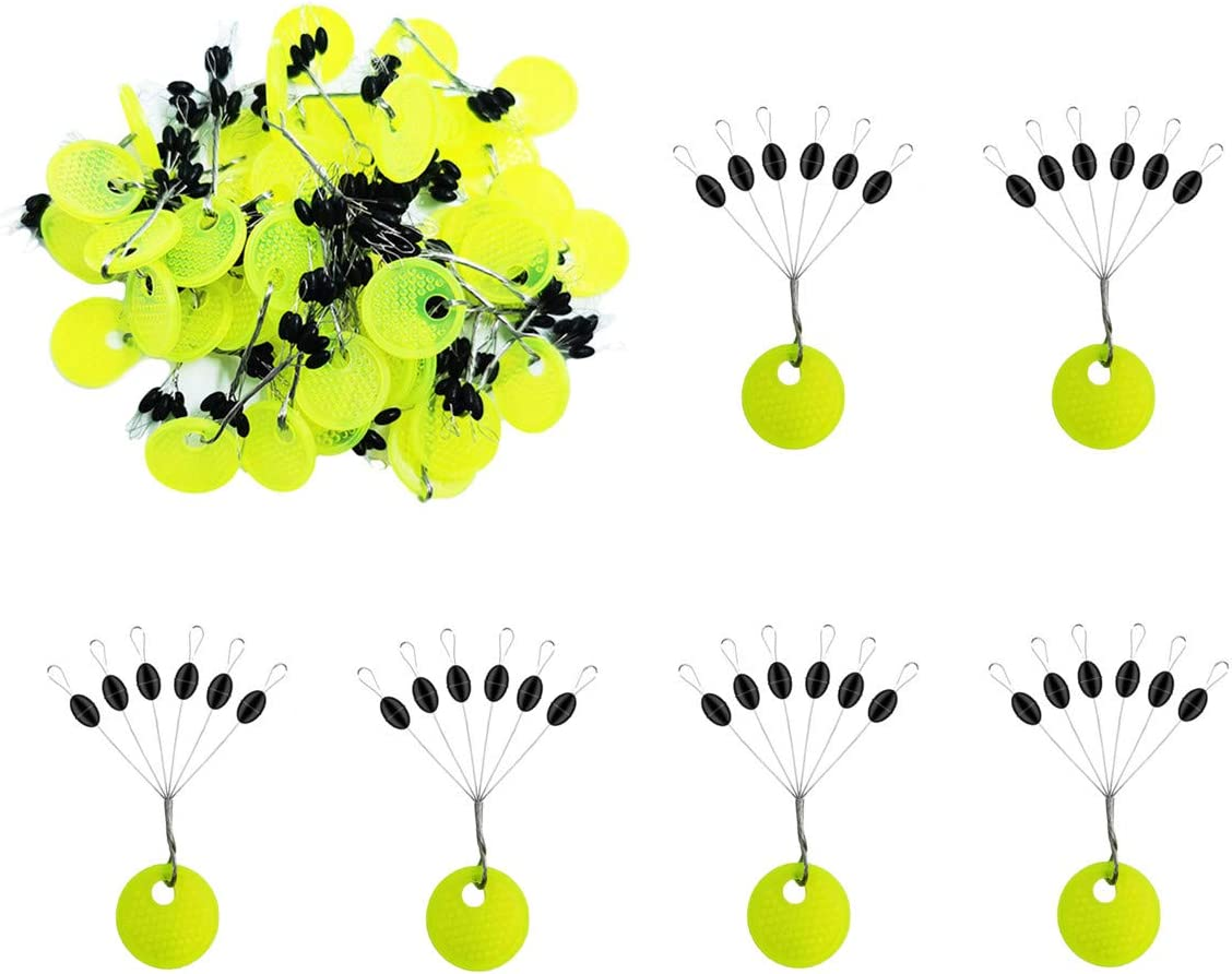 6 PCs Silicone Stopper Head Float Seat Throw Line Float Bobbers F3A2 sizes V1W3