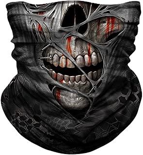 JOEYOUNG Skull Face Mask - UV Sun Mask Dust Wind Neck Gaiter, Half Face Mask for Motorcycle Riding Skeleton Bandana, Seamless Headwear Tube Mask for Fishing Hunting Cycling Men Women