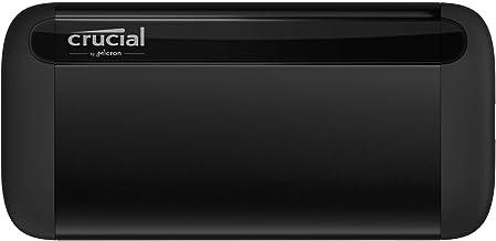 Crucial 1TB X8 Portable SSD – Up to 1050MB/s – USB 3.2 – USB-C, USB-A – CT1000X8SSD9