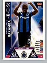 2018-19 Topps UEFA Champions League Match Attax #334 Marvelous Nakamba Club Brugge Soccer Trading Card