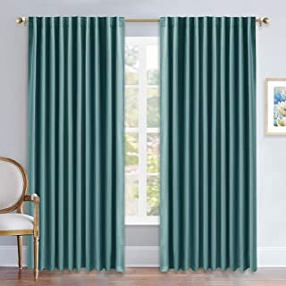NICETOWN Living Room Blackout Draperies – (Sea Teal Color) W70 x L84, 2 Pieces,..