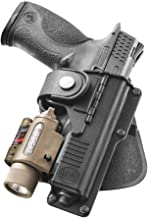 Fobus RBT17 Tactical Holster for Glock 17, 22, 31, Smith & Wesson M&P 9mm, .40 & .45, M&P Pro 9mm & .40 / Light or Laser Required, Right Hand Paddle