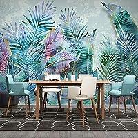 カスタム任意のサイズの壁画壁紙3D熱帯植物葉ライト高級リビングルームの寝室の家の装飾壁紙, 200cm×140cm