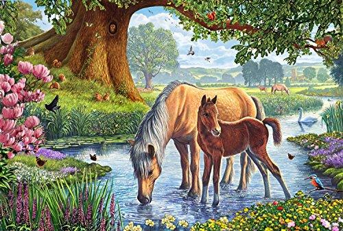 Schmidt spel puzzel 56161 paarden op beach, 150 delen
