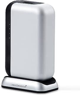 【日本正規代理店品・保証付】Just Mobile TopGum モバイルバッテリー&マグネット式充電ドック シルバー/ブラック JTM-BY-000021