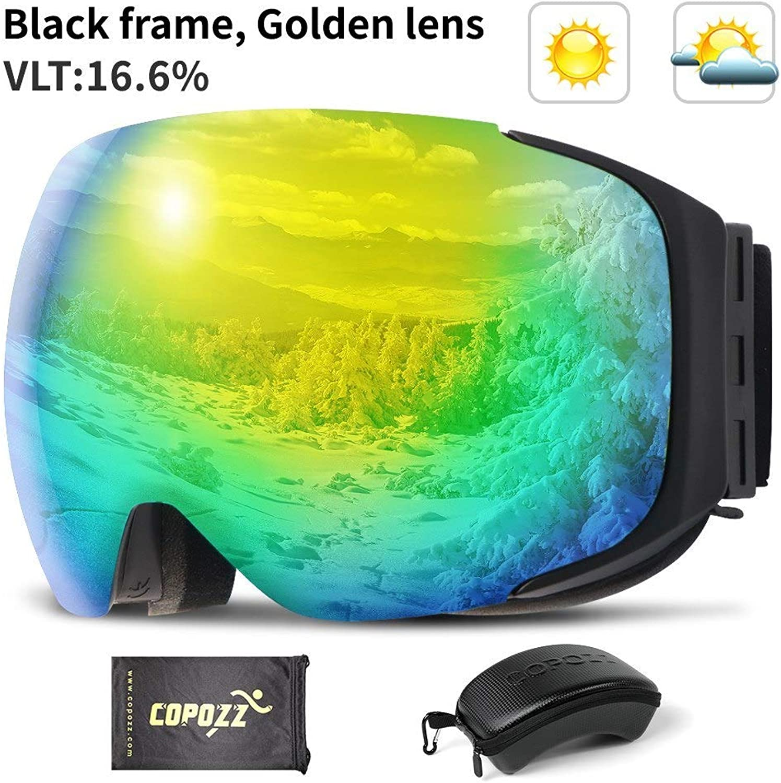 Multi INF COPOZZ Brand Magnetic Ski Goggles With Case Double Lens Anti-fog Ski Snow Glasses UV400 Skiing Men Women Winter Snowboard 2181