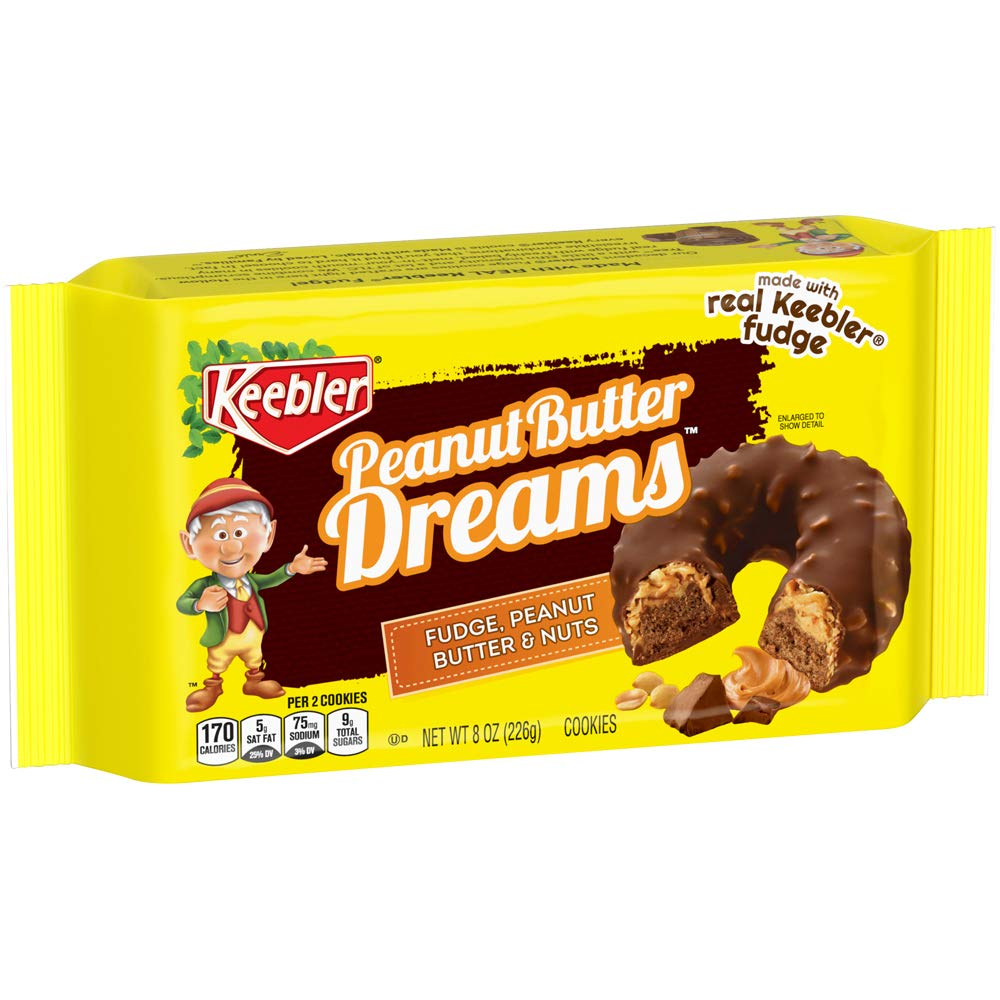 Keebler Fudge Peanut Butter and Crunchy Nut Cookies Ounce P 8 National uniform free shipping 25% OFF