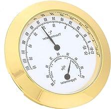 Fockety Higrómetro termómetro Redondo, práctico medidor de Temperatura Redondo, para violín y Guitarra