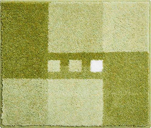 Linea Due Alfombra de Baño 3D, Ultra Suave y Absorbente, Antideslizante, 5 Años de Garantía, MERKUR, Pequeña Alfombra 50x60 cm, Verde