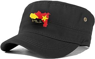Sponsored Ad - MOEEZE Tigray Regionadjustable Adult Flat Cap, Military Cap with Solid Border, Baseball Cap,