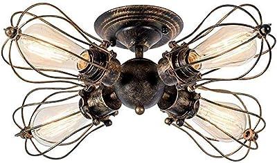 Lámpara de techo Vintage Enchufe Industrial Ajustable