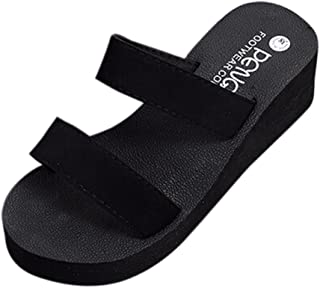 Women Flip Flops, Neartime Summer Bohemia Beach Platform Sandals Bath Wedge Slope Slippers Shoes