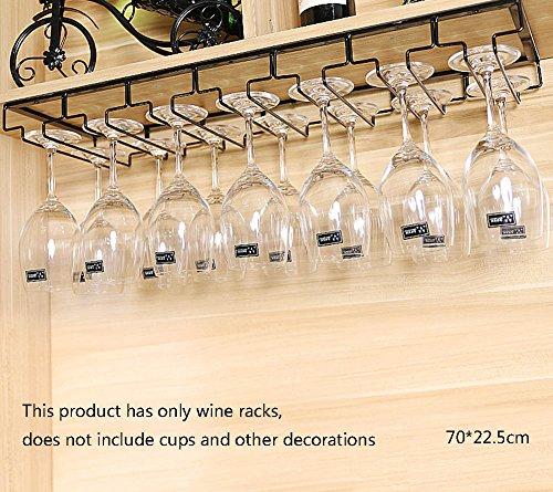 IJzeren zwarte wijnrek bekerhouder houder rode wijnglazen houder, multifunctionele barkast kast ornamenten 70cm