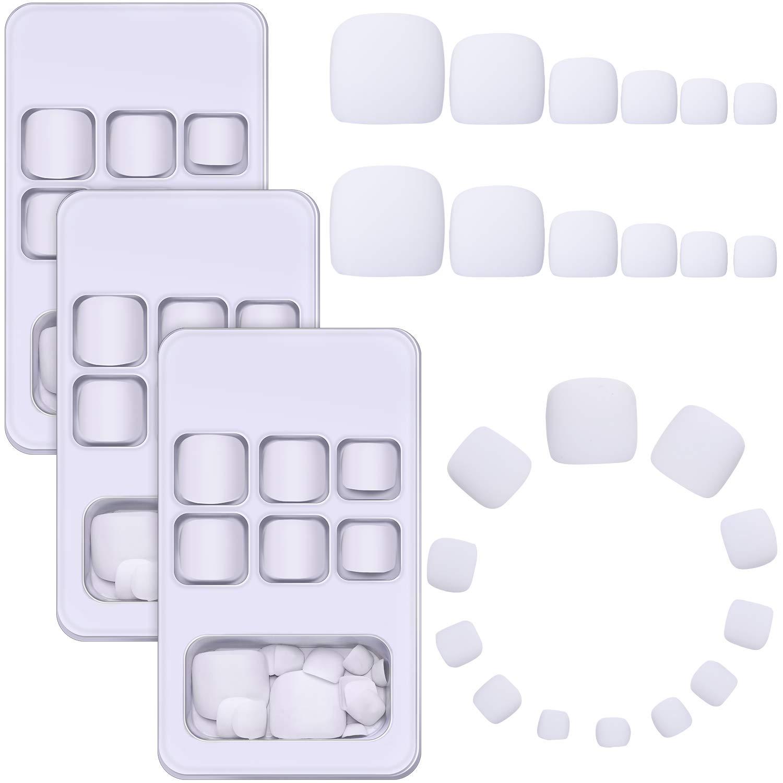72 High quality Pieces New product False Toe Nails Matte Toenails Full Square Short Fake