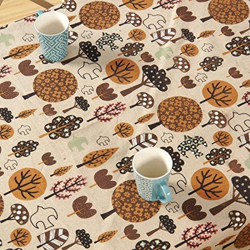 BLUELSS Nouveau Style Nordique, Motif Arbre Marron Nappe Cirée Capot Table manteles mesa Para,90x140cm