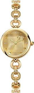 Reloj de Pulsera Elegante y Simple Relojes de Mujer Plata/Dorado Reloj de Pulsera fluida Diamantes de imitación Encantador