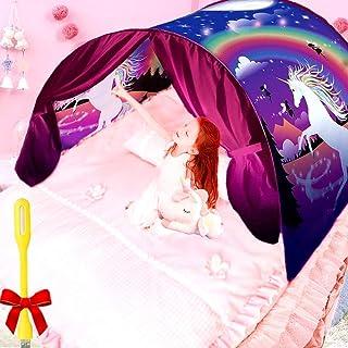 Nifogo Carpa Tiendas de Ensueño -Dreamtents Magical World Carpa de Ensueño Kid 's Fantasy Niños Dormitorio, Bed Tent-Pop Up Playhouse for Niños