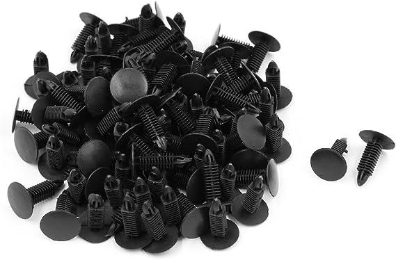 100x 8mm Hole Dia Plastic Rivets Fastener Fender Bumper Push Pin Clips for Car