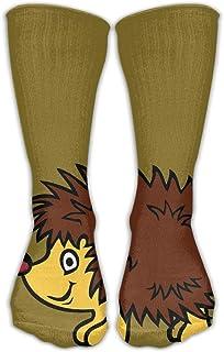 靴下 抗菌防臭 ソックス レディースメンズクラシックソックス漫画ハッピーハリネズミスポーツストッキング30 cmロング靴下1サイズ