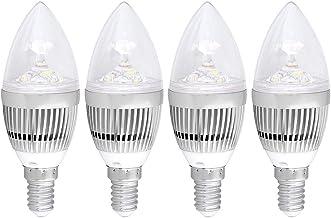 Bloodyrippa 5W LED Light Bulb, E14 Base Type, Cold White, 5500-6500K, 500lumens, Non-dimmable, 4-Pack