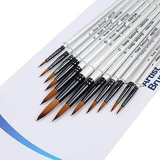 画筆 セット ペイントブラシ 水彩筆 油絵筆 用筆 画筆 (鋭)
