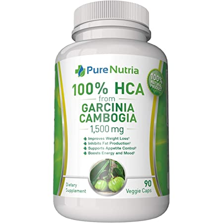 Garcinia Cambogia 1500mg HCA from Garcinia Cambogia Extract. Extra Strength 100% HCA - Ultra Effective for Appetite Control and Weight Management. 90 Vegetarian Capsules. Made is USA