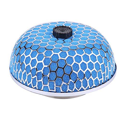 Elerose Filtre à Air Haut Débit Voiture 76mm Universel(Bleu)
