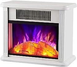 LXDDP Calefacción Chimenea eléctrica - Estufa con Efecto Llama Realista - Portátil - Estufa eléctrica - Chimenea eléctrica 2000W - con Efecto Llama Madera Real