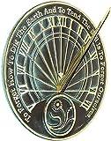 ANTIQUE NAUTICALS Reloj de sol de reflexión para jardineros, latón macizo con reflejos verdigris, 25.4 cm de diámetro