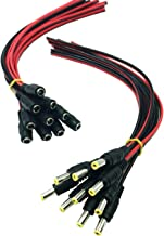 Arayker 10 Pairs DC Power Pigtail Cable 12V 5A Male Female DC Connector 5.5 mm x 2.1 mm Barrel Connectors Plug Pigtail Cable for CCTV DVR Cameras and LED Strips