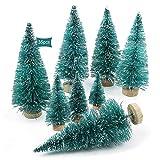 JEEZAO Mini Árbol de Navidad Pequeño Artificial en Miniatura Nevado Cedro,Fiesta Navidad Decoración Navideños Ornamentos