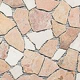 Piastrelle a mosaico in marmo naturale, beige, rosso, ciot RossoCream, per pavimenti, pareti, bagno, doccia, cucina, specchio, rivestimento, rivestimento per vasca da bagno, tappetino a mosaico