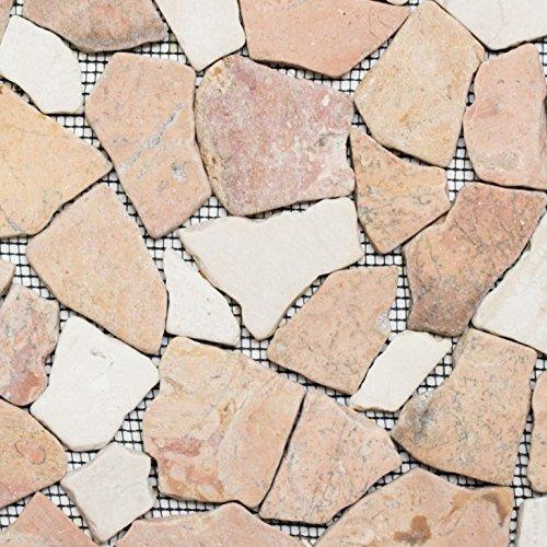 Display/ciot Mix Ross ocream Natura del mosaico di pietra