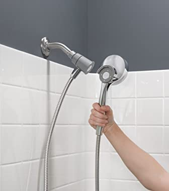 Moen 26100EP Engage Magnetix 3.5-Inch Six-Function Handheld Showerhead with Eco-Performance Magnetic Docking System, Chrome
