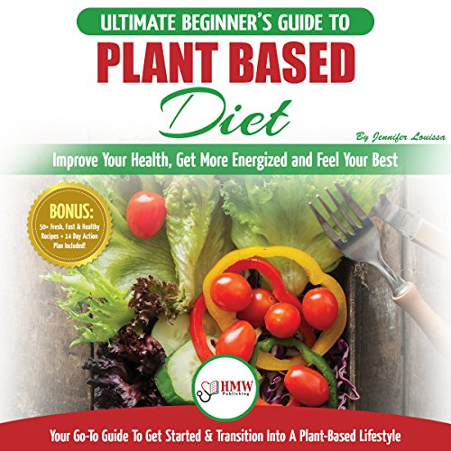 『Plant Based Diet: The Ultimate Beginner's Guide to Plant Based Diet Recipes for Beginners』のカバーアート