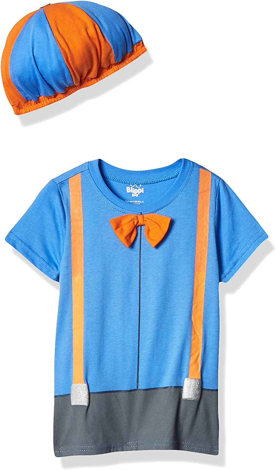 Blippi Roleplay Shirt and Hat Roleplay Set with Printed Bow...