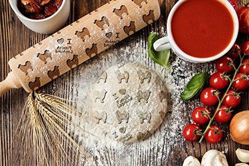 ArtDog Ltd. Finnischen Laphund, gravierter Nudelholz, für Kuchen und Kekse, Küchengerät