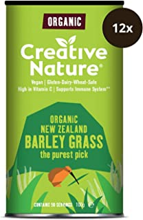 Creative Nature Organic Barley Grass Powder (Pack of 12), 1200 g