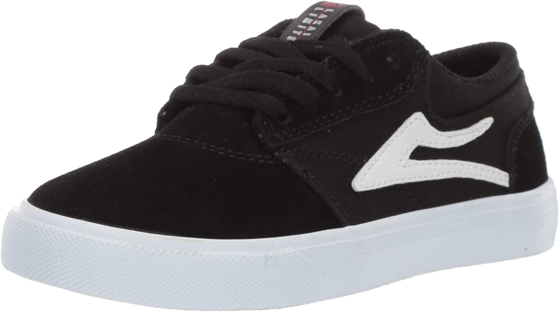 Lakai Unisex's Footwear Summer 2019 Griffin Kids Black White Suede Size 6 Tennis shoes, M US
