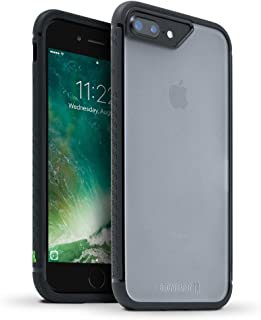 BodyGuardz - Contact Case Compatible with iPhone 7 Plus / 8 Plus, Co-Mold Case with Impact Absorbing Technology for Apple iPhone 7 Plus / 8 Plus (ONLY) (Black)