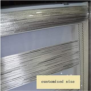 Custom Size Zebra Dual Roller Blinds Silver Metallic(Max Width 93