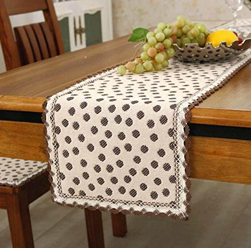 1PCS 30x110 cm Vintage Made Made Polyester Table Runner Country Party Décoration de mariage , 3 , 30x110 cm