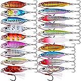 WEIMEIDA Cebo de Pesca 6/7 unids Micro Metal Metal Jig Spoon Spoon Casting Jigging Plomo Pescado Mar Bajo Pesca Atención Artificial Bait Tackle JQBB526 (Color : A 6pcs 1, Size : 20g)