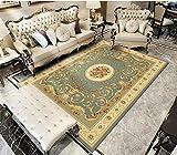 LHLJM Home Alfombra De Diseño Alfombra geométrica de salón de poliéster Sofá de Estilo clásico nórdico Dormitorio Manta de Mesa de café-15_El 1.5 * 2cm