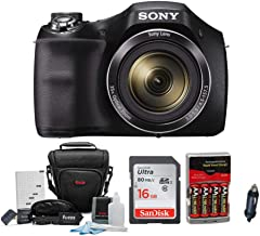 Sony DSC-H300 Digital Camera with 16GB SD Card and...