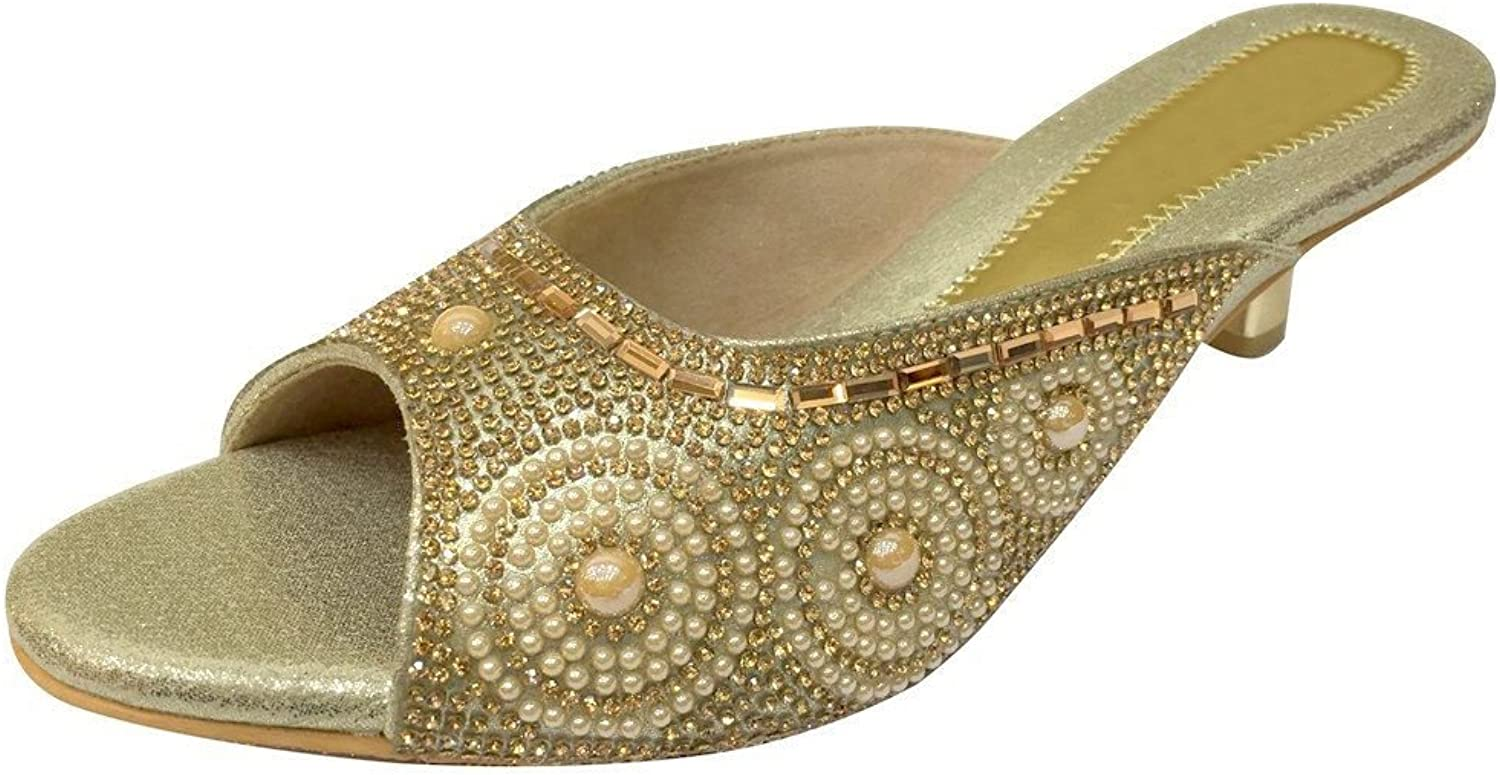Step n Style Women Bridal shoes Evening Party shoes Wedding shoes Khussa Saree Jutti