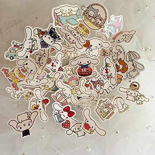 40Pcs Cute Self-Made Cinnamoroll Dog Sanrio Stickers Scrapbooking Stickers Decor Diary Album Stickers Classic Gift
