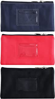 Lunasmile Lockable Bank Deposit Bag with Upgraded Zipper, Multi-Purpose Storage Zipper Pouch (Mix1)