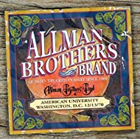 AMERICAN UNIVERSITY 12-13-70 by Allman Brothers Band (2012-05-08)