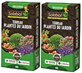 SOLABIOL TERJARDI50 TERREAU Plantes du Jardin 2x50 | L Jusqu'à 5 Mois de Nutrition, Utilisable en Agriculture Biologique